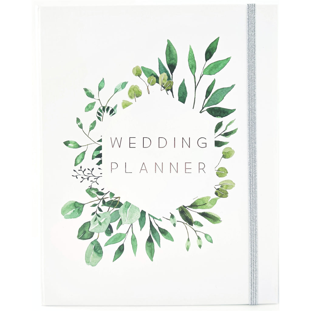 Wedding Planner with Gift Box | White & Leaves - Simply Wedding Planners