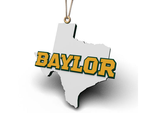 Baylor Texas Outline Ornament