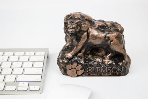 Clemson Tiger Bronze Rock Statue