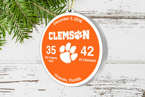 Clemson Victory Ornament 2016 (vs. Virginia Tech)