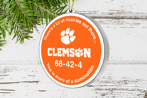 Clemson Domination Ornament