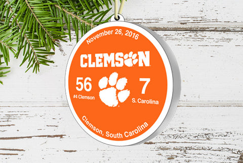 Clemson Victory Ornament 2016 (vs. S. Carolina)