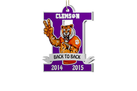 Clemson Back to Back Ornament