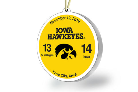 Iowa Victory Ornament 2016 (vs. Michigan)