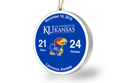 Kansas Victory Ornament 2016 (vs. Texas)