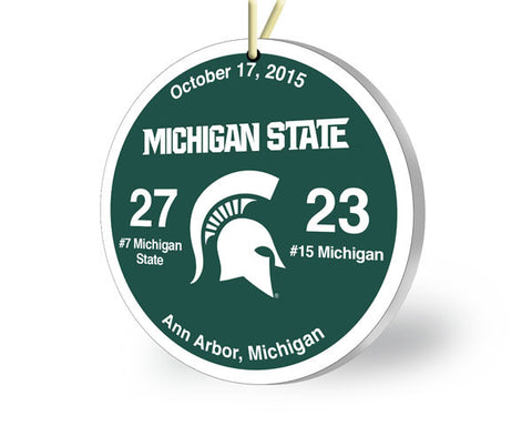 Michigan State Throwback Ornament 2015 (vs. Michigan)