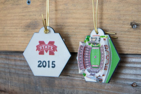 Mississippi State Stadium Ornament 2016