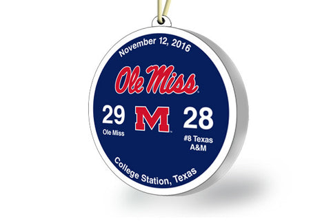 Ole Miss Victory Ornament 2016 (vs Texas A&M)