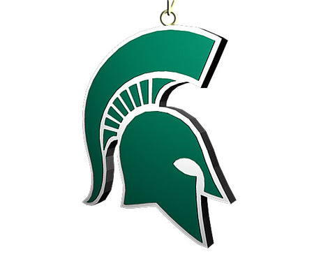 Michigan State Spartan Helmet Ornament