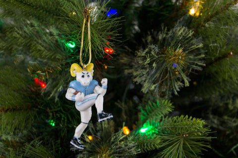 UNC Rameses the Ram Mascot Ornament