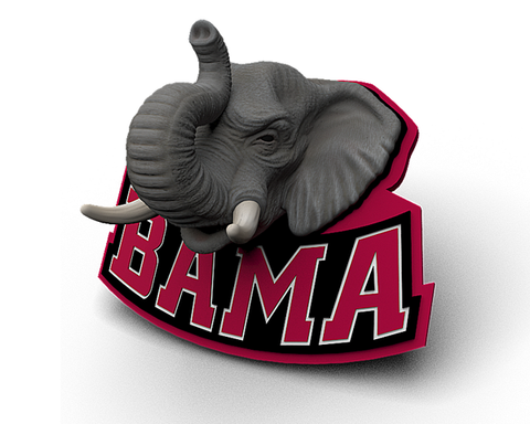 Alabama Elephant Head Mascot Magnet