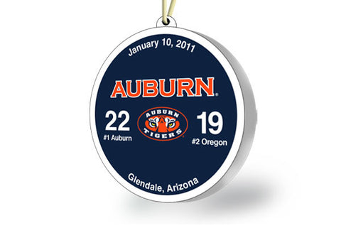 Auburn Throwback Ornament 2011 (vs. Oregon)