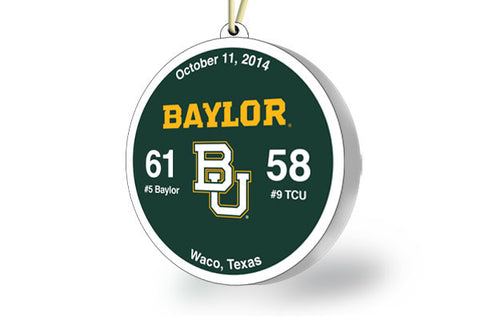 Baylor Throwback Ornament 2014 (vs. TCU)