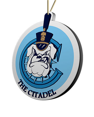 Citadel Bulldogs Ornament