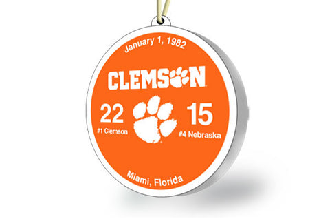 Clemson Throwback Ornament 1982 (vs. Nebraska)