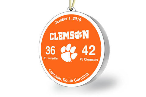 Clemson Victory Ornament 2016 (vs. Louisville)