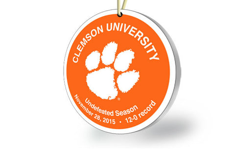 Clemson Undefeated Ornament - 2015