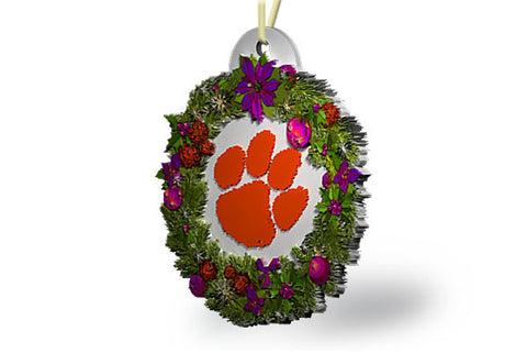 Clemson Wreath Ornament