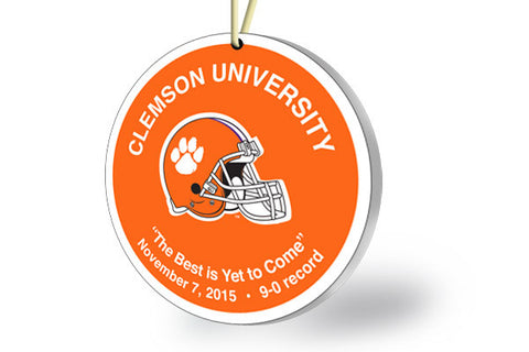 "Clemson Ornament 2015 - ""The Best is Yet to Come"""