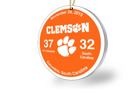 Clemson Victory Ornament 2015 (vs. South Carolina)