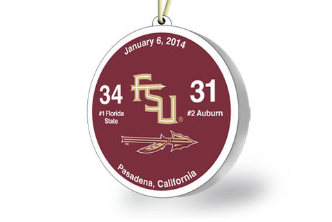 Florida State Throwback Ornament 2014 (vs. Auburn)
