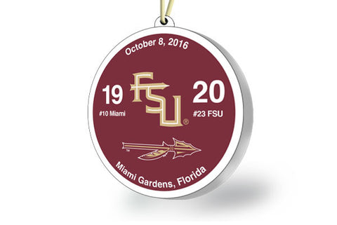 Florida State Victory Ornament 2016 (vs. Miami)