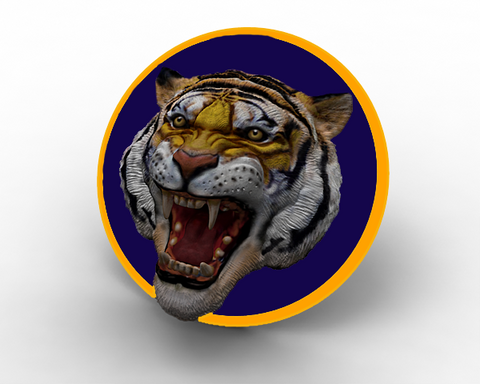LSU Tiger Head Magnet