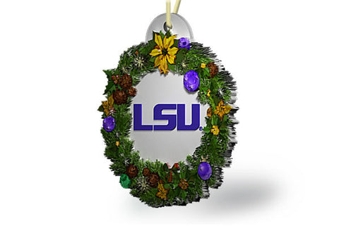 LSU Wreath Ornament