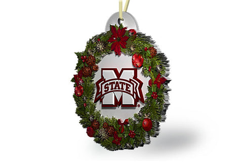 Mississippi State Wreath Ornament
