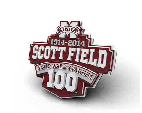 Mississippi State Scott Field 100 Years Magnet