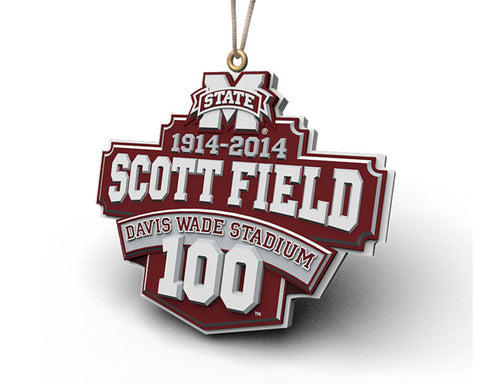 Mississippi State Scott Field 100 Years Ornament