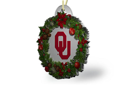 Oklahoma Wreath Ornament