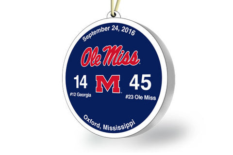 Ole Miss Victory Ornament 2016 (vs UGA)