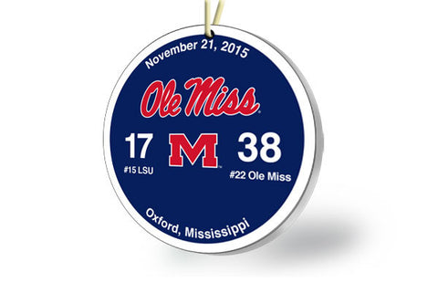 Ole Miss Victory Ornament 2015 (vs. LSU)