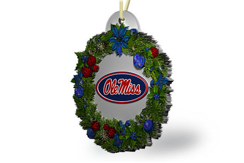 Ole Miss Wreath Ornament