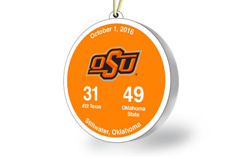 Oklahoma State Victory Ornament 2016 (vs. Texas)