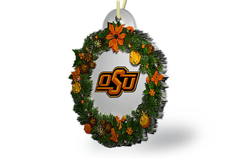 Oklahoma State Wreath Ornament