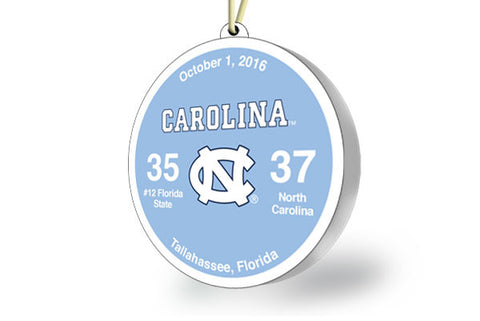 UNC Victory Ornament 2016 (vs. Florida State)