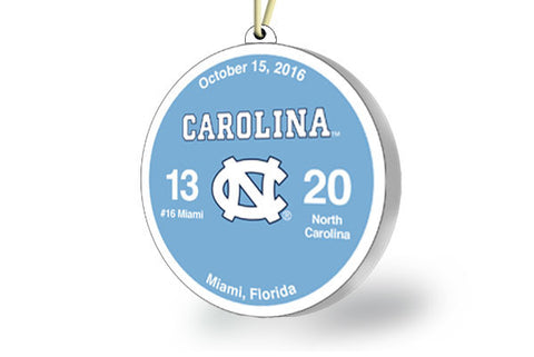 UNC Victory Ornament 2016 (vs. Miami)