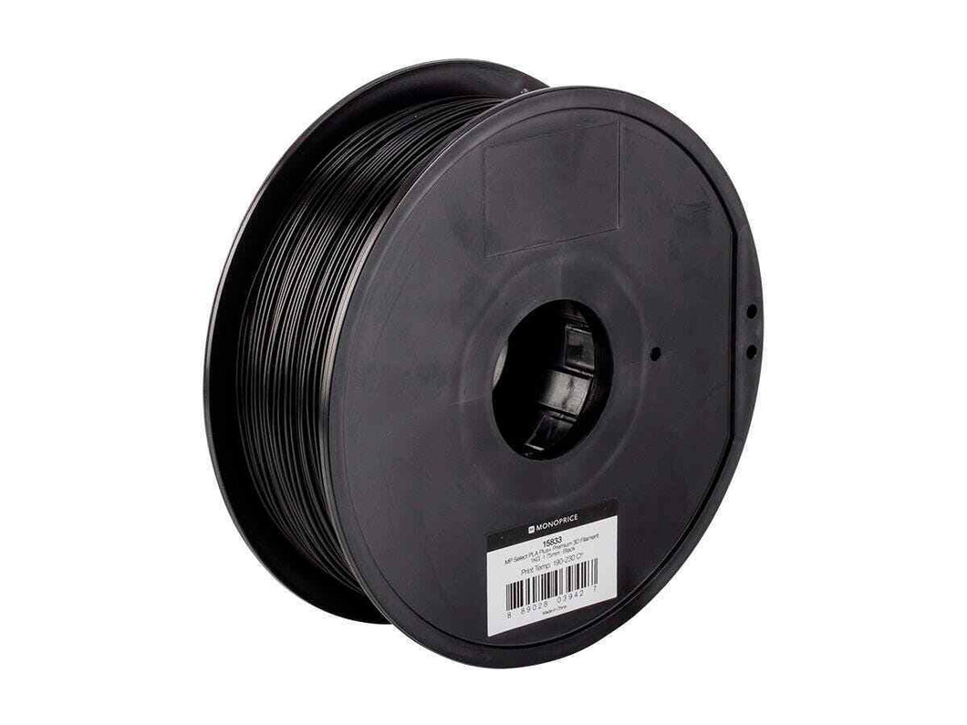 Monoprice Premium 3D Printer Filament PLA 1.75mm 1kg-spool, Black
