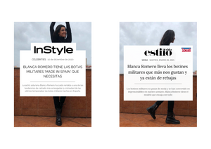 THE BELTAINE ANKLE BOOTS WEARED BY BLANCA ROMERO IN INSTYLE AND WEEK MAGAZINE