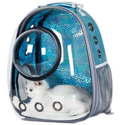 Astronaut Bubble Transparent Outdoor Carrying Cat Travel Bag Breathable Space Capsule Pet Carrier Backpack For Small Cat