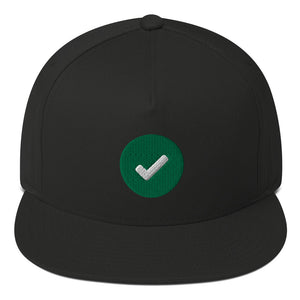 Action Check Flat Bill Cap