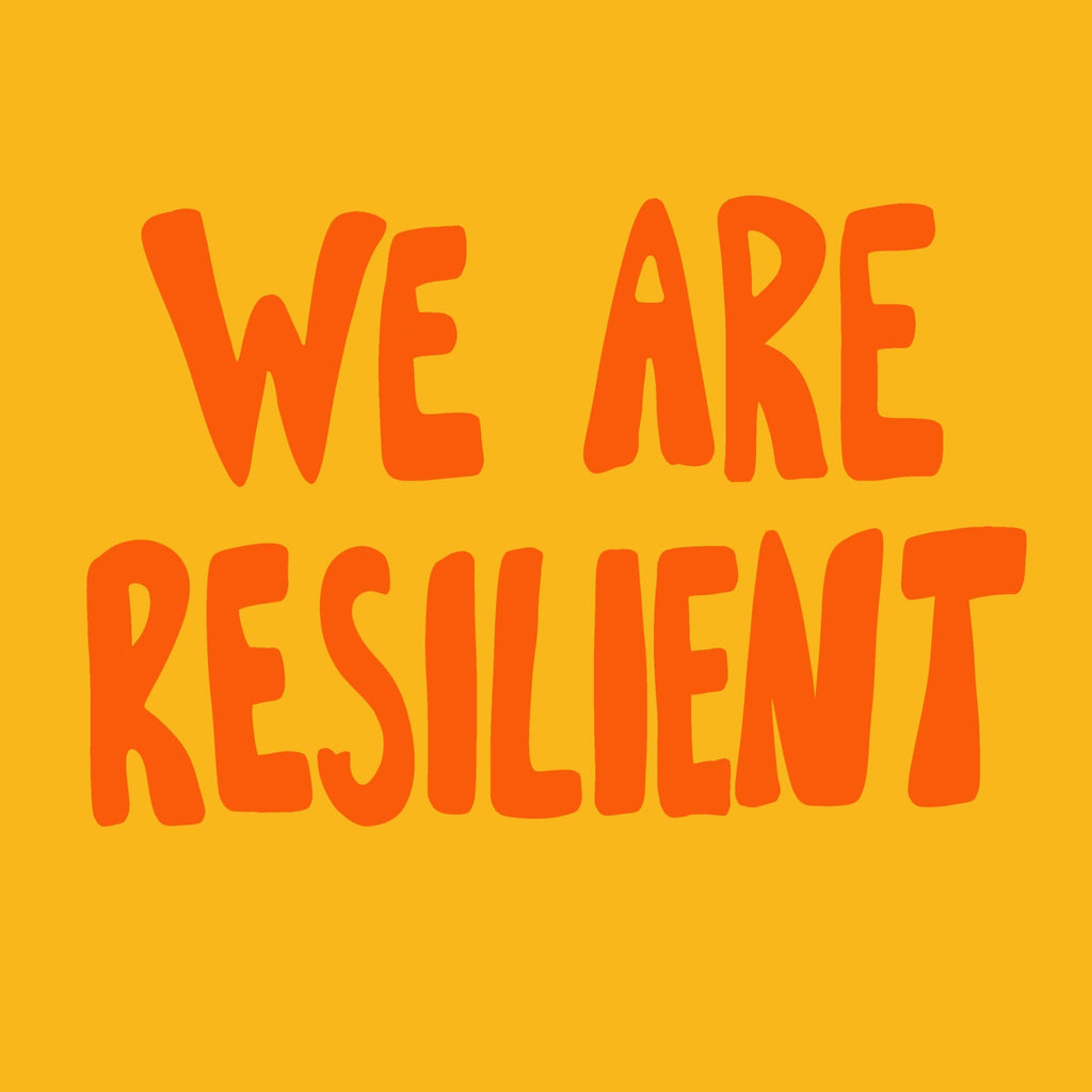 Okay Shoe Digital poster We Are Resilient print at home poster