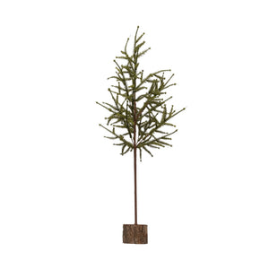 "28-1/4""H Faux Pine Tree on Wood Base"