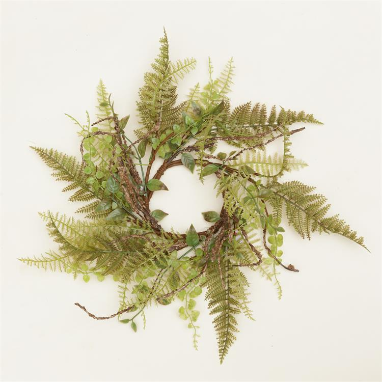 Candle Ring - Ferns & Foliage