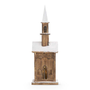 Vintage LED Weathered Wood House/Church