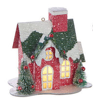 Load image into Gallery viewer, LIGHTED HOUSE ORNAMENT