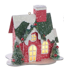 LIGHTED HOUSE ORNAMENT