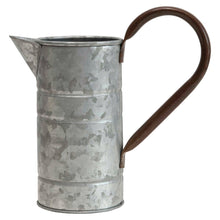 Load image into Gallery viewer, Decorative Metal Galvanized Pitcher